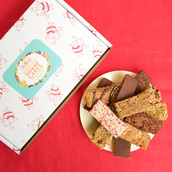 Taster box of classic and new generation cake slices