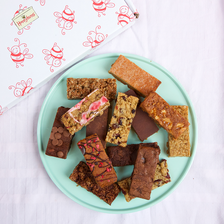 Taster box of gluten free cake assortments
