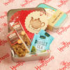 Tea Party in a tin with soft baked flapjack cake slices