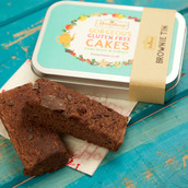 Vegan and gluten free brownie travel tin gift