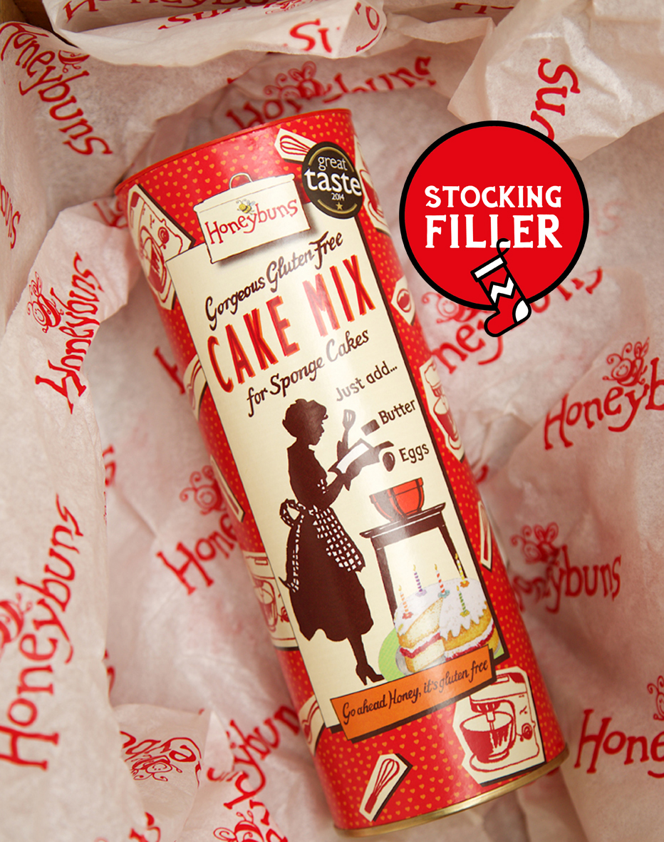 Honeybuns gluten free sponge cake mix makes a lovely gift