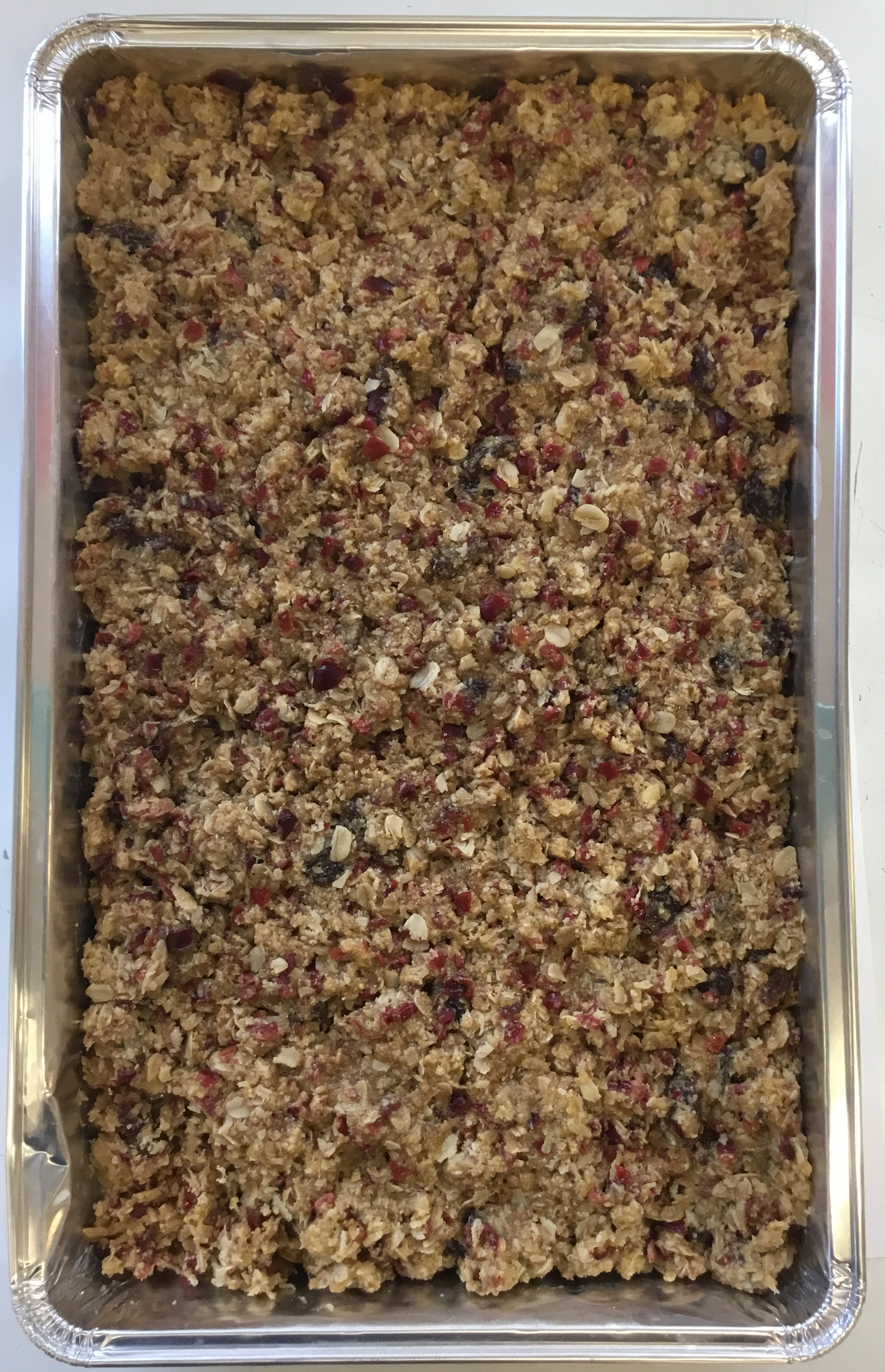 Gluten and dairy free and vegan Oaty Cranberry Bar Traybake