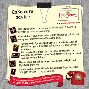 Honeybuns gluten free cakes cake care advise