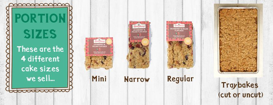 Honeybuns free from cakes for trade come in a variety of formats including traybakes