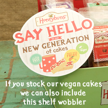 Vegan cakes Point of sale for trade