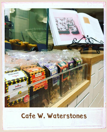 Find Honeybuns gluten free cakes and our gluten free baking book in Cafe W, Waterstones