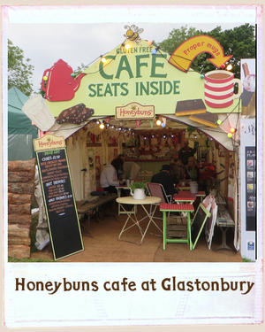 Honeybuns gluten free cafe at Glastonbury Festival